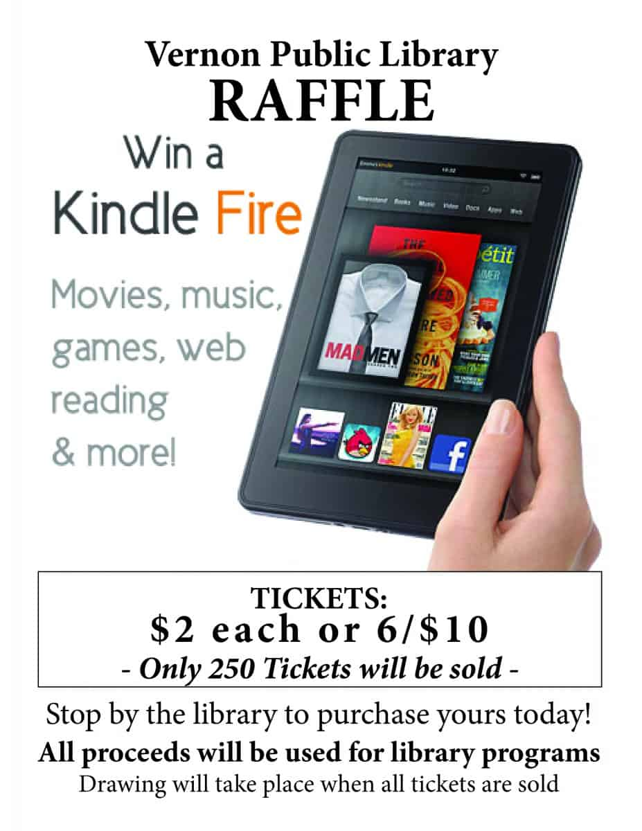 raffle flyer info kindle raffle flyer vernon public library